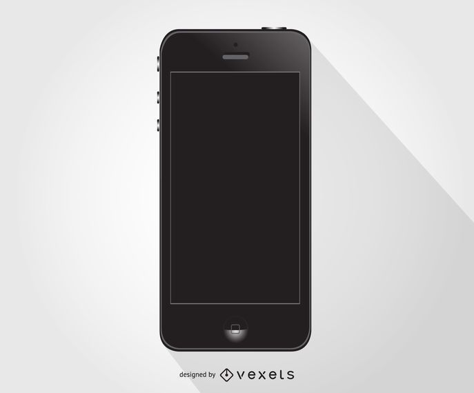 IPhone smartphone negro
