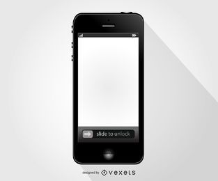 Maqueta de telefono movil iphone