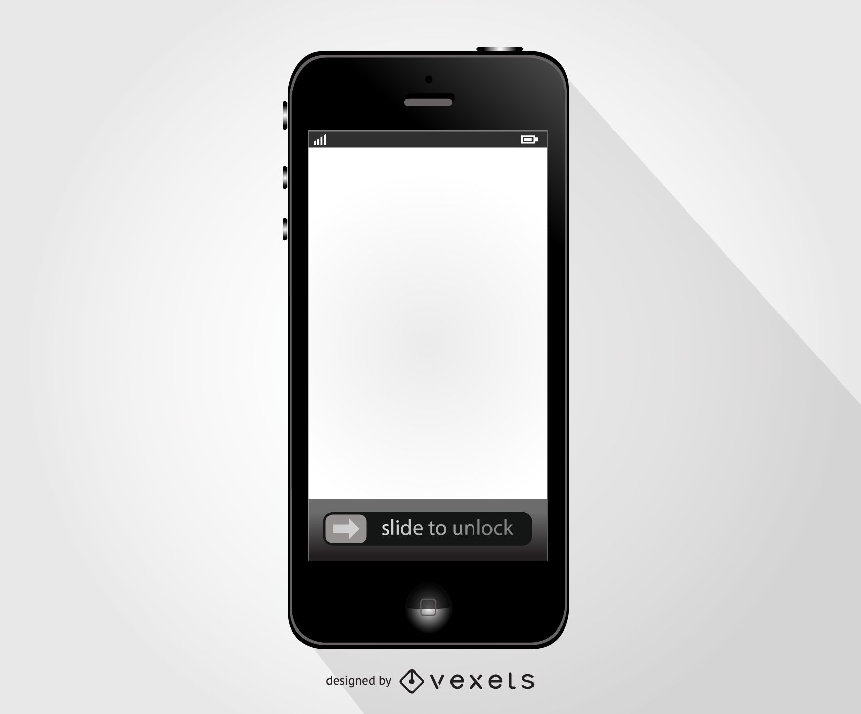 Iphone mobile phone vector