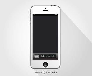 Maqueta de teléfono inteligente blanco Iphone