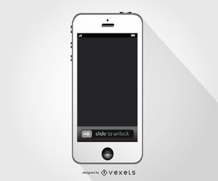 White Iphone smartphone mockup