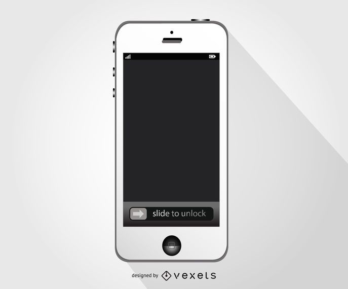 White Iphone smartphone mockup