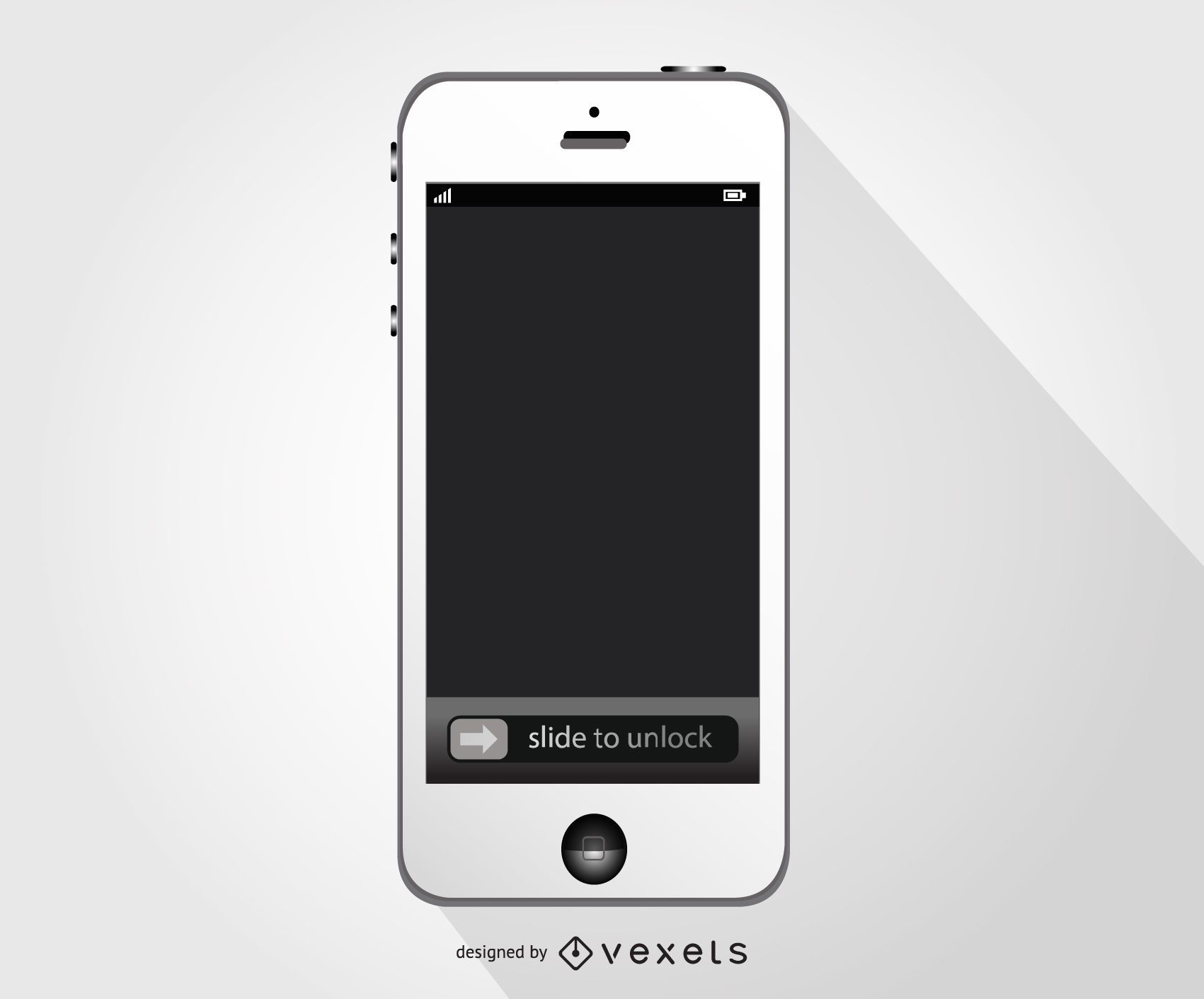 White Iphone smartphone