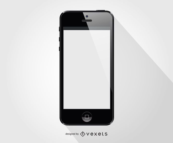 Iphone smartphone front template