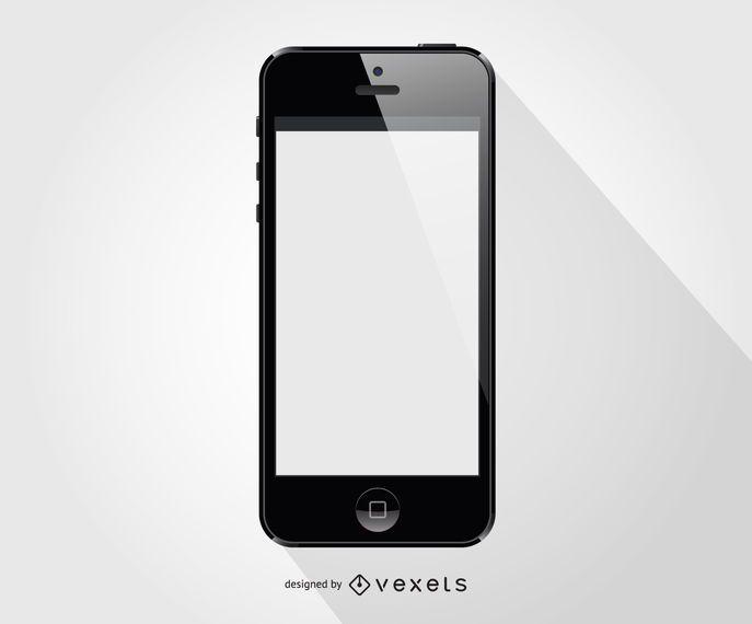 Plantilla frontal de smartphone iphone