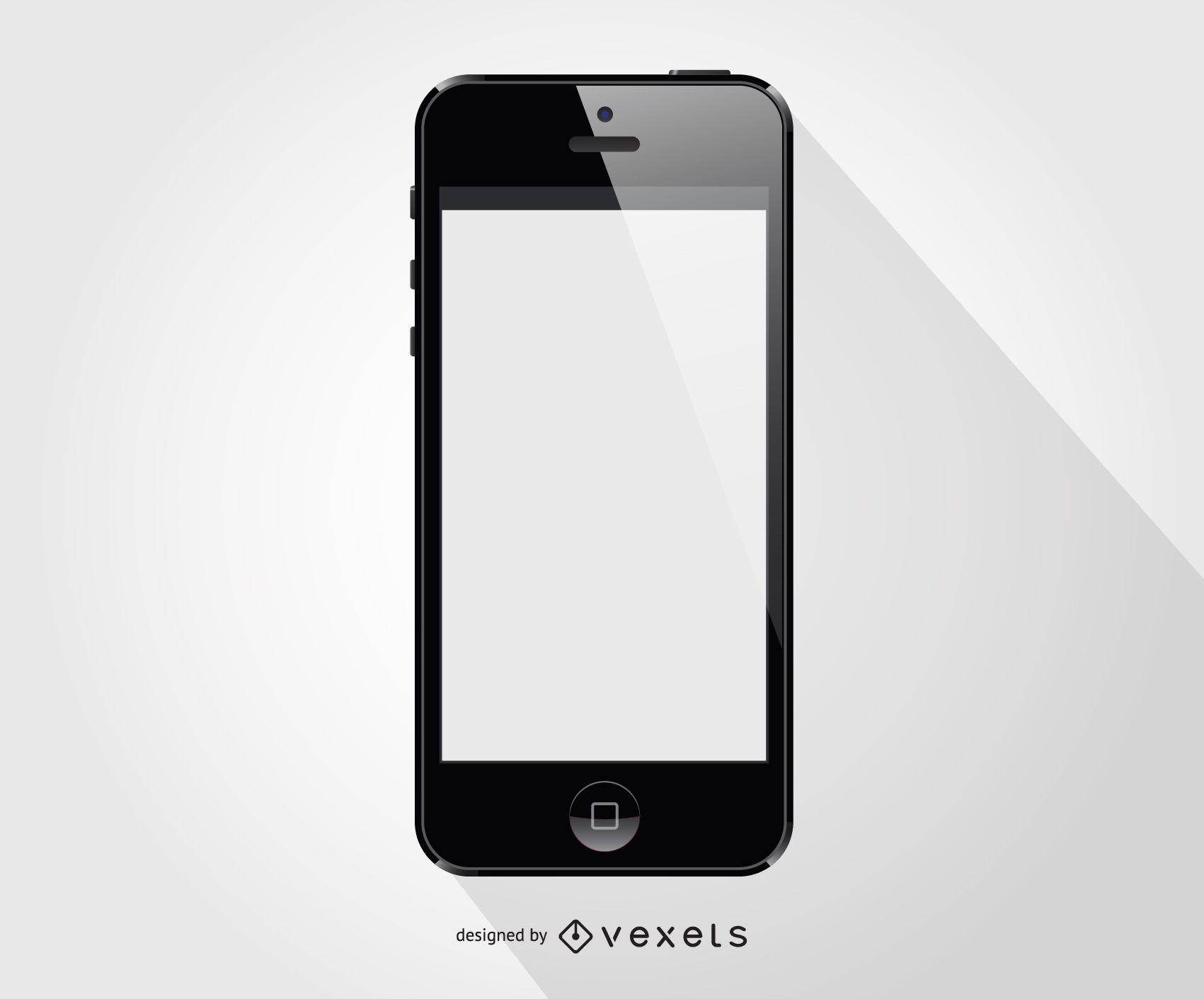 Iphone smartphone front template - Vector download