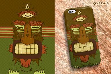 Diseño tribal de la caja del teléfono de la máscara