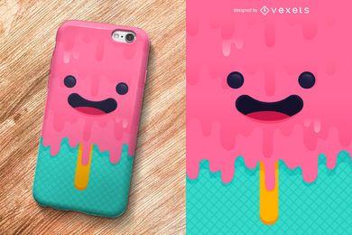 Design de capa de celular para sorvete