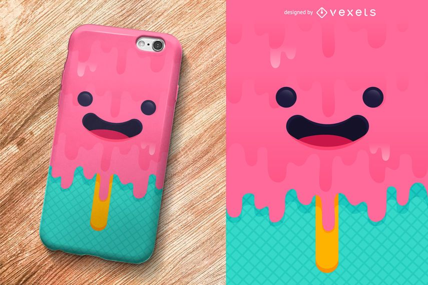 Design de caso de telefone de sorvete