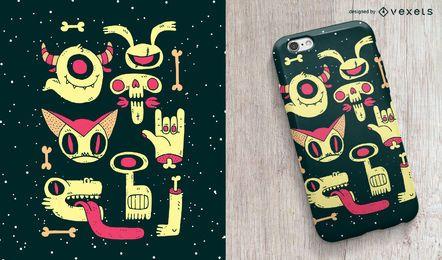 Diseño de la caja del teléfono Zombies