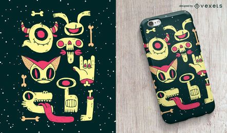 Zombies Telefon Fall Design