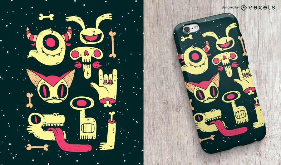 Zombies diseño de la caja del teléfono