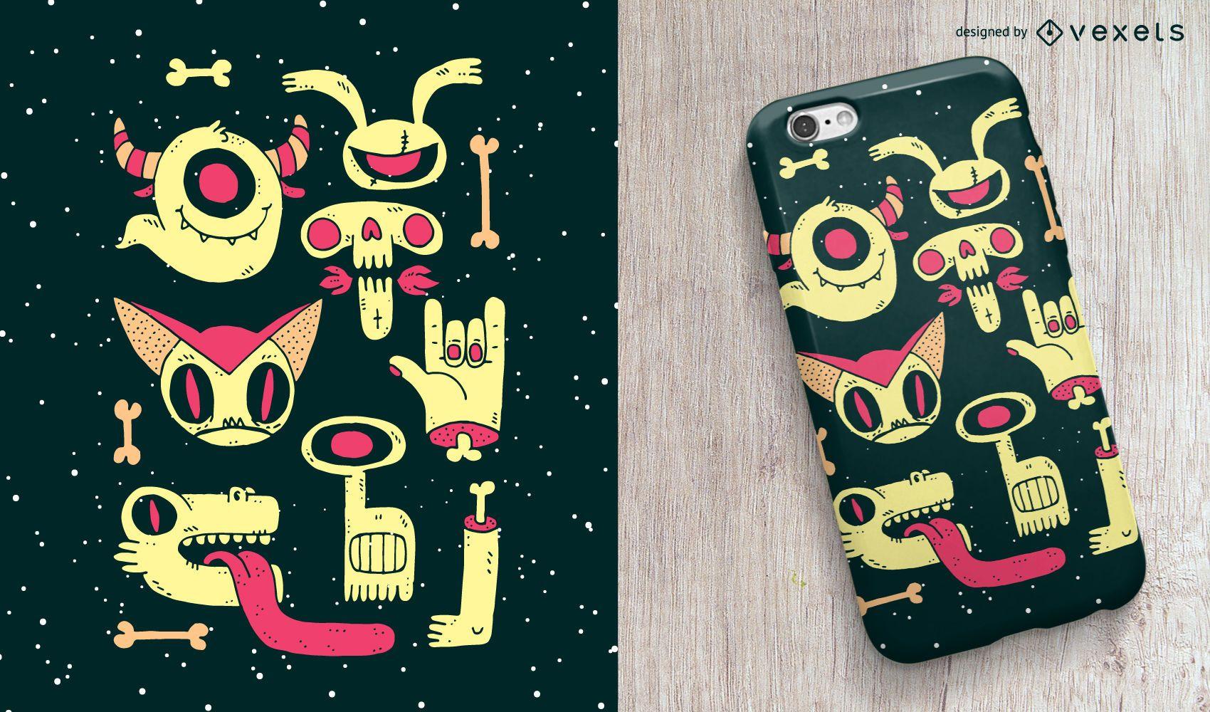 Diseño de carcasa de teléfono Zombies