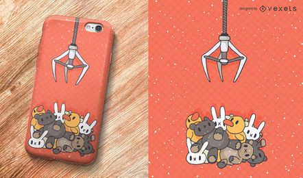 Claw machine phone case design