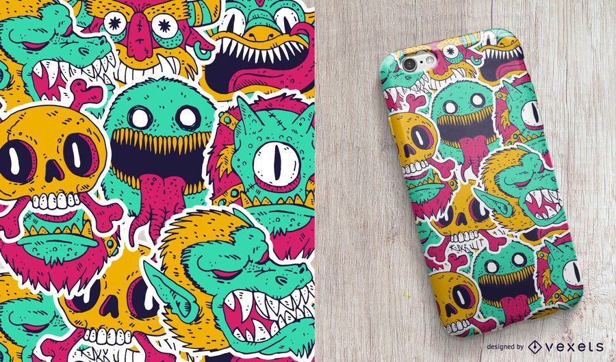Monsters phone case design
