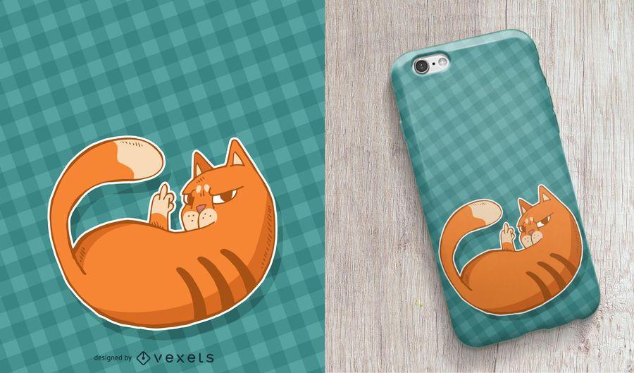 Diseño de la caja del teléfono naranja Tabby