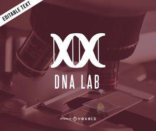 Design de modelo de logotipo de laboratório de DNA