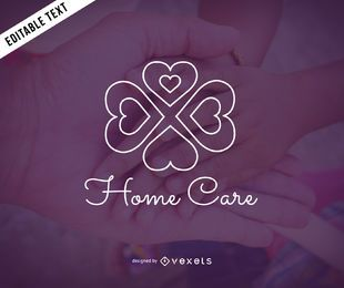 Home care logo template design