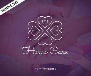 Logo-Schablonendesign für häusliche Pflege