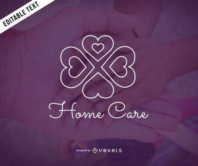 Projeto de modelo de logotipo de cuidados domiciliários