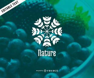 Design de modelo de logotipo de planta de natureza