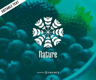 Nature plant logo template design