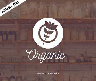 Design de logotipo de produtos orgânicos
