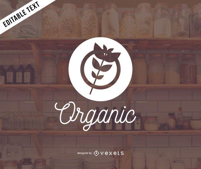 Diseño de logotipo de productos orgánicos.