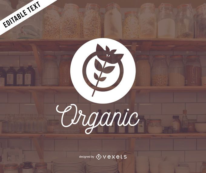 Organic products logo design