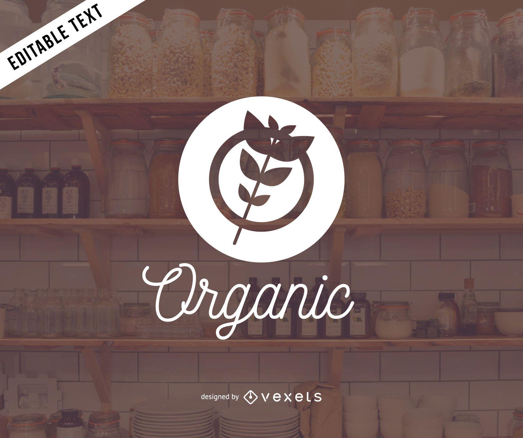 Diseño de logo de productos orgánicos