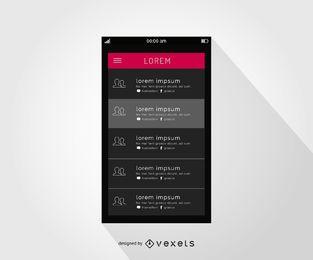 Smartphone-Kontaktschnittstellendesign