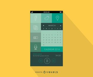 Diseño de menú de aplicación de teléfono inteligente