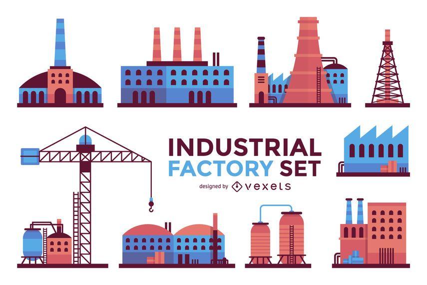 Conjunto de edificios industriales.