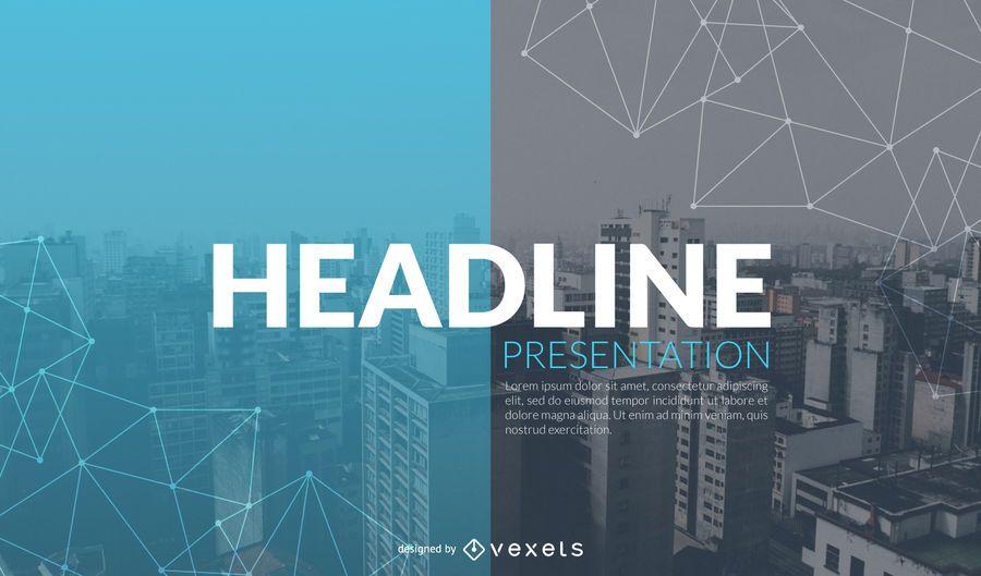Plantilla de diapositiva de presentación de introducción