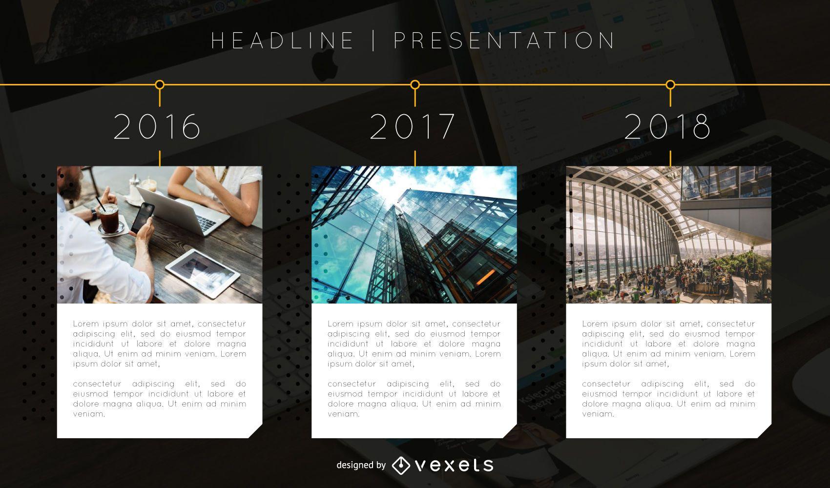 Timeline presentation slide template