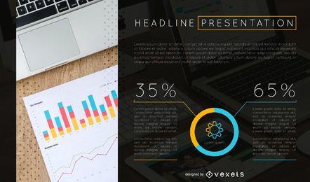 Analiza la plantilla de diapositiva de presentación.