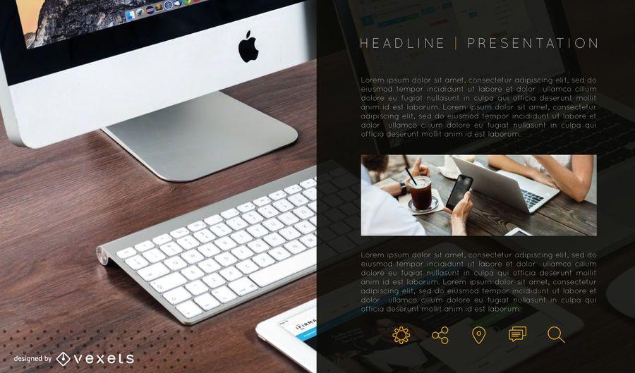 Presentation information slide template