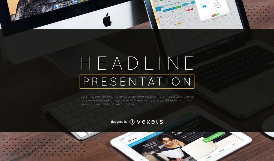 Presentation intro slide template