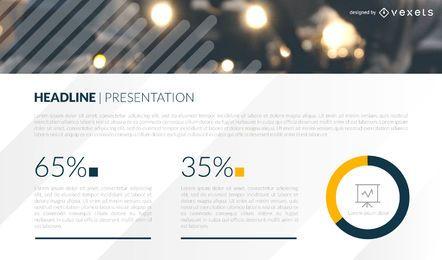 Modelo de slide de apresentação de estatísticas
