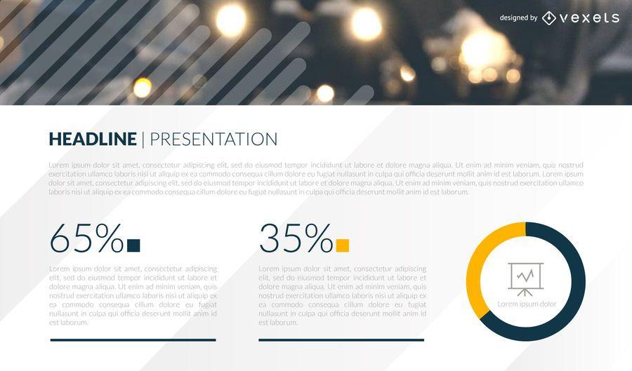 Plantilla de diapositiva de presentación de estadísticas