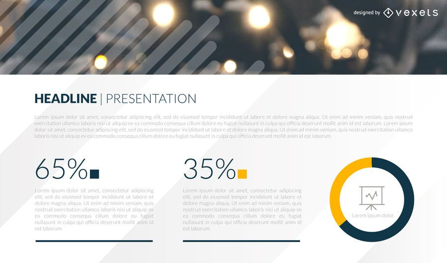 Statistics presentation slide template