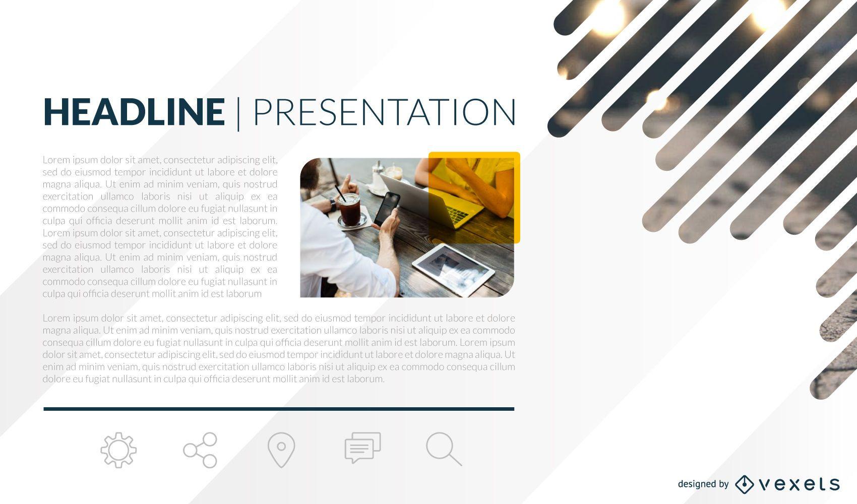 Presentation slide template