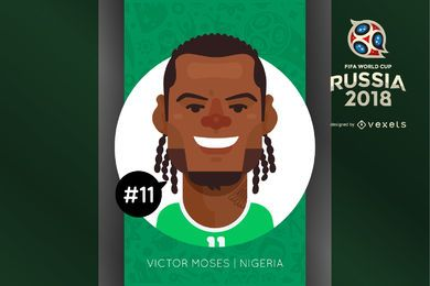 Victor Moses cartoon avatar