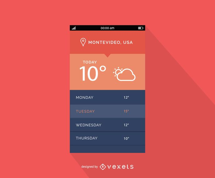 Mobiles Wetter-Interface-Design