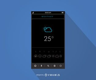Mobile weather application interface design