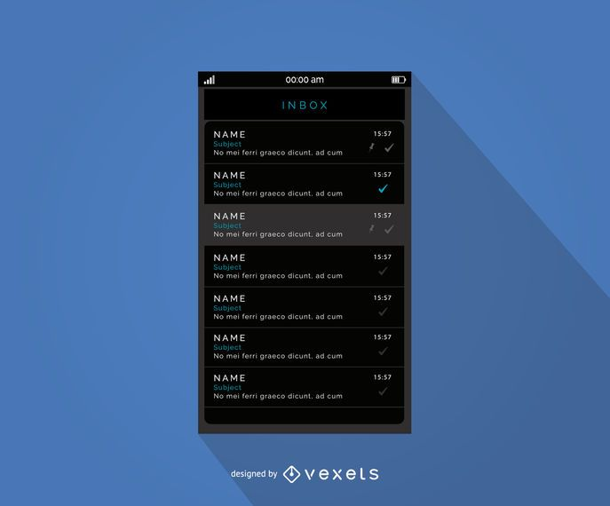 Mobile Message Inbox Interface Design