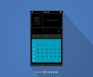 Mobiles Kalender-Interface-Design