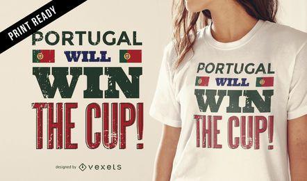 Diseño de camiseta Portugal copa del mundo