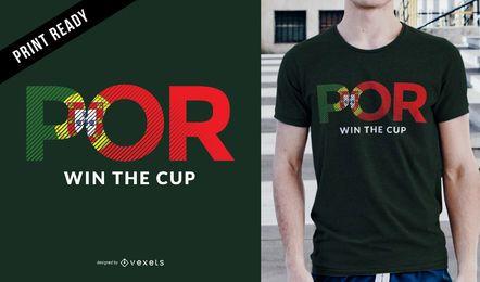 Diseño de camiseta de fútbol de Portugal