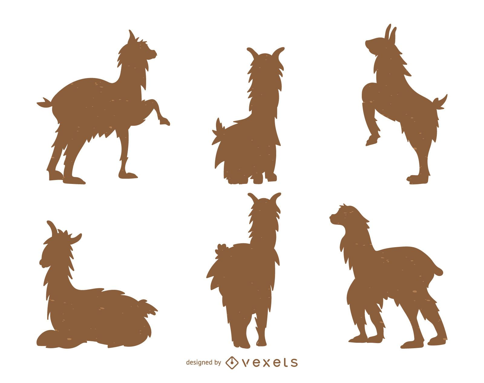 Llama silhouette collection